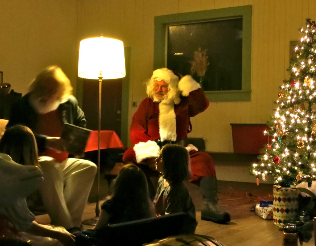 """The Night Before Christmas"" with Santa himself."